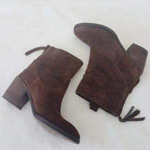 Sam Edelman Farrell Brown Suede Booties Size 6